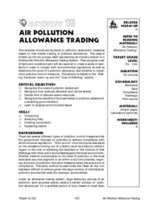 Air Pollution Allowance Trading Lesson Plan