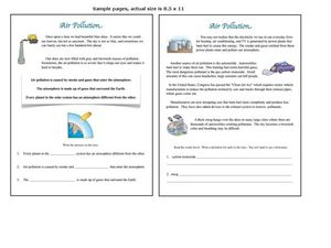 Air Pollution Worksheet