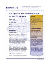 Air Quality and Transportation in the Tulsa Area Lesson Plan