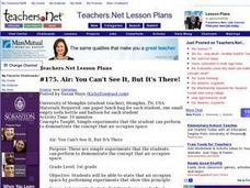 Air: You Cant See It, But Its There! Lesson Plan