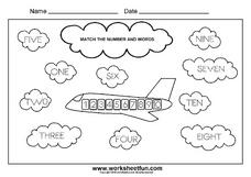 Airplane Numbers Lesson Plan