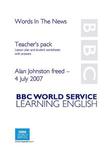 Alan Johnston Freed Lesson Plan