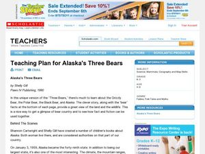 Alaska's Three Bears Lesson Plan