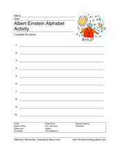 Albert Einstein alphabet activity Worksheet