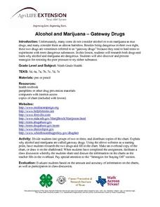 "Alcohol and Marijuana ""Gateway Drugs"" Lesson Plan"