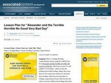 Alexander and the Terrible, Horrible, No Good Very Bad Day Lesson Plan