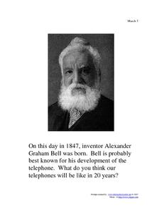 Alexander Graham Bell: March 3, 1847 Worksheet