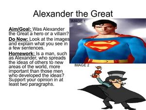 alexander the great villain or hero 7th 9th grade presentation lesson planet. Black Bedroom Furniture Sets. Home Design Ideas