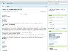 Algebra: Introduction to Algebraic Expressions Lesson Plan