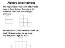 Algebra Investigations Worksheet