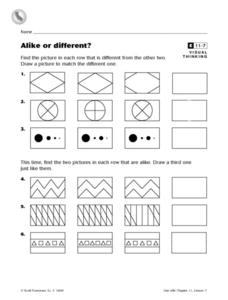 Alike or Different? Worksheet