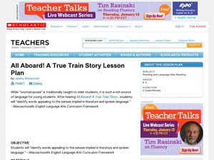 All Aboard Lesson Plan