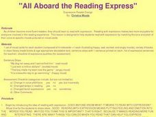 All Aboard the Reading Express Lesson Plan