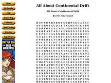All About Continental Drift Worksheet