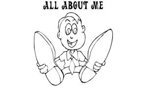 All About Me Coloring Sheet: Boy Worksheet