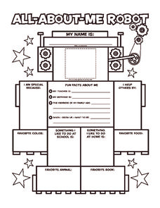 All About Me Robot Worksheet