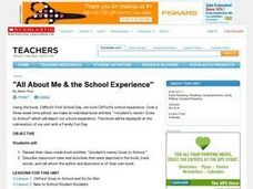 All About Me & the School Experience Lesson Plan