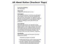 All About Ratios Lesson Plan