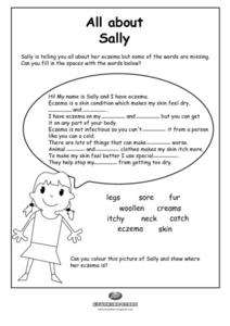 All About Sally Worksheet