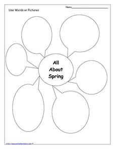 All About Spring Graphic Organizer Worksheet