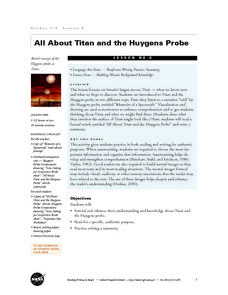 All About Titan and the Huygens Probe Lesson Plan