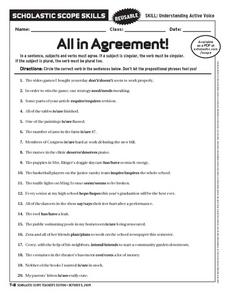 All in Agreement! Worksheet