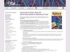 All-in-One Quilter's Reference Tool Lesson Plan