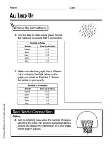 All Lined Up Worksheet