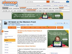 All Quiet on the Western Front Theme of Warfare 9th - Higher Ed ...