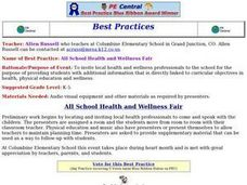 All School Health and Wellness Fair Lesson Plan