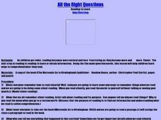 All the Right Questions Lesson Plan