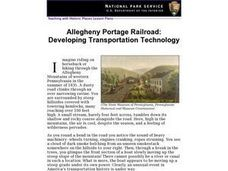 Allegheny Portage Railroad: Developing Transportation Technology (23) Lesson Plan