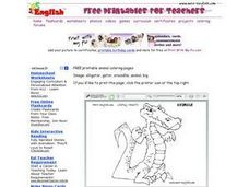 Alligator Drawing Worksheet