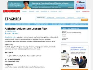 Alphabet Adventure Lesson Plan Lesson Plan