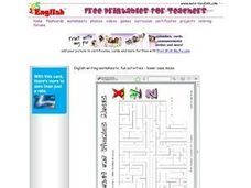 Alphabet and Phonics Mazes: Alphabet 2 Worksheet