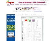 Alphabet and Phonics Mazes Worksheet