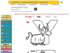 Alphabet Animals: Letters Y and Z Worksheet