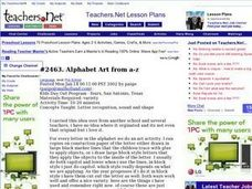 Alphabet Art from A-Z: Art, Letter Recognition Lesson Plan