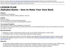 Alphabet Books - How To Make Your Own Books. Lesson Plan