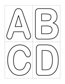 Alphabet Bubble Letter Cards Worksheet