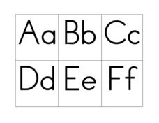 Alphabet Cards Aa-Zz Worksheet
