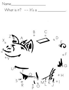 Alphabet Dot to Dot Worksheet