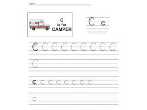 Alphabet Letter C Worksheet