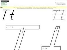 Alphabet: Letter T Activity Worksheet Worksheet