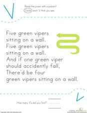 Alphabet Letter V Worksheet