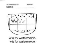 Alphabet Letter W Lesson Plan