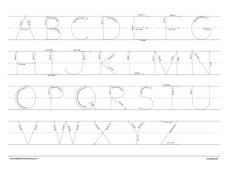 Alphabet Letters and Number Practice Worksheet