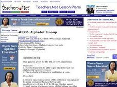 Alphabet Line-up (Elementary, Language) Lesson Plan