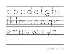 Alphabet Lowercase Letter Trace Worksheet