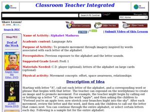 Alphabet Madness Lesson Plan